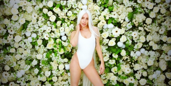 Lady GaGa in the music video for 'G.U.Y'